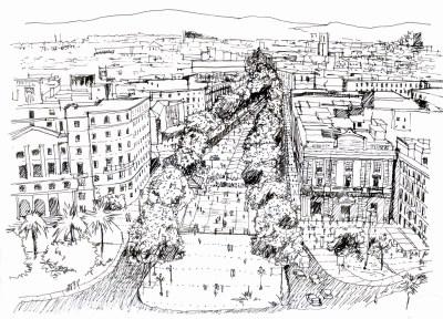 La Ramblas Sketch