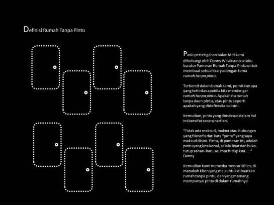 pameran Rumah Tanpa pintu -initial definition