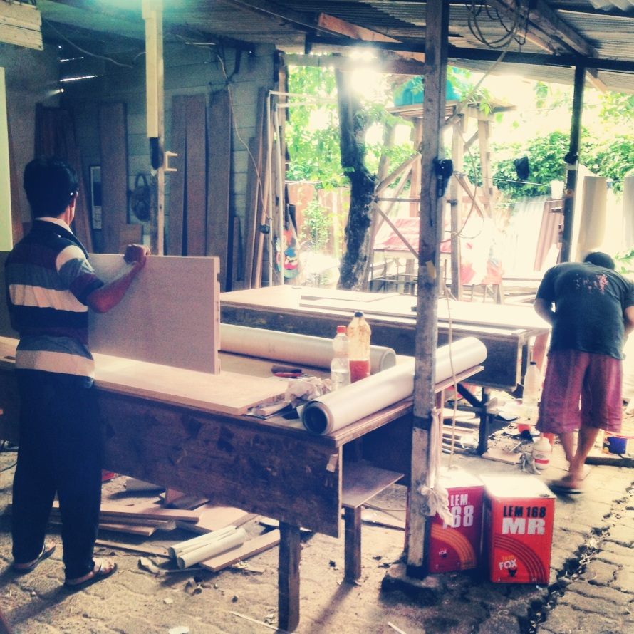 Preparation in the workshop - 2012 - temporary structure