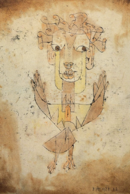 Angelus Novus, Paul Klee, source from : http://www.fucinemute.it/wp-content/uploads/2012/03/alfbenj-2.jpg