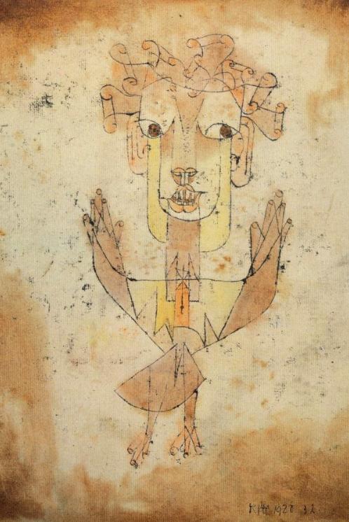 Angelus Novus, Paul Klee, source from : http://www.fucinemute.it/wp-content/uploads/2012/03/alfbenj-2.jpg