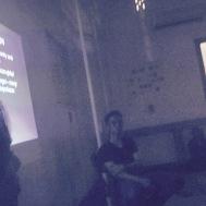 Bu Eunike explaining about Architecture academy condition